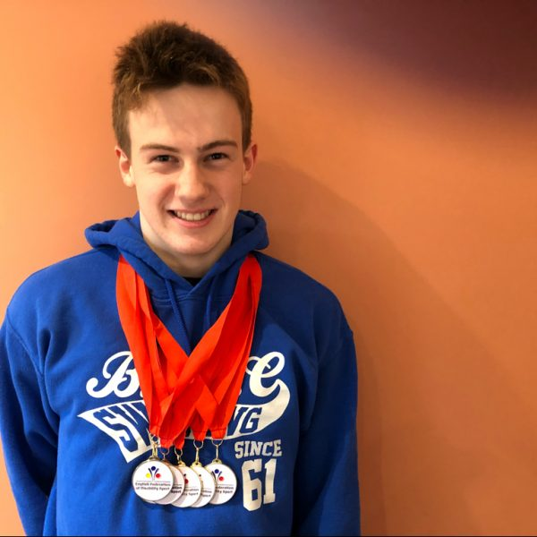 Congratulations to Owen Say, multiple medals at National Junior Para- Swimming Champs 2018