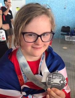 Kathryn Martin at the Downs Syndrome World Championships