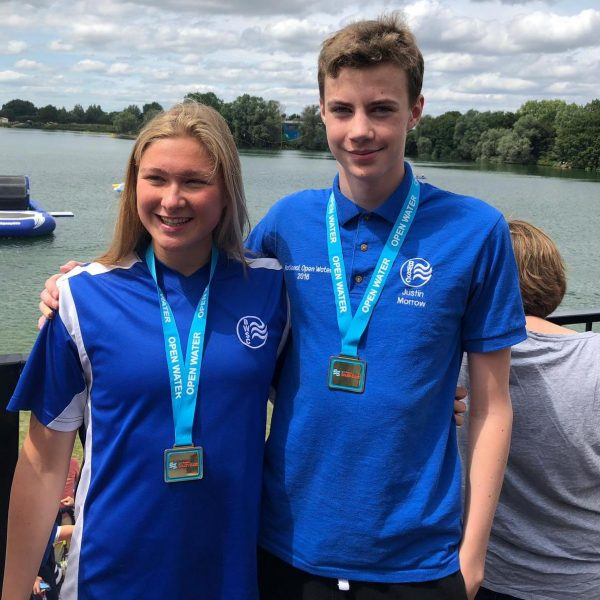Justin and Grace triumph at the Swim England South East 2019 Open Water Championships.